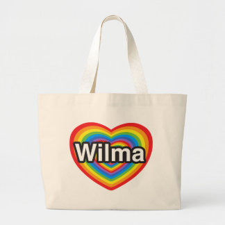 I love Wilma I love you Wilma Heart Canvas Bag