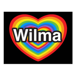 I love Wilma. I love you Wilma. Heart Postcard