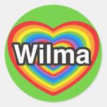 I love Wilma. I love you Wilma. Heart Classic Round Sticker