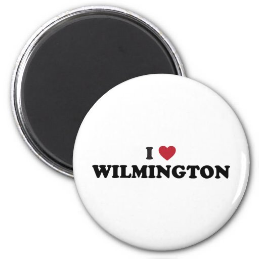 I Love Wilmington North Carolina 2 Inch Round Magnet