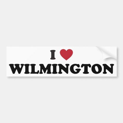 I Love Wilmington North Carolina Bumper Sticker