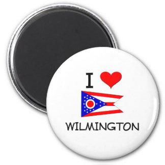 I Love Wilmington Ohio 2 Inch Round Magnet