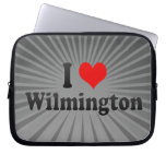 I Love Wilmington, United States Laptop Computer Sleeves