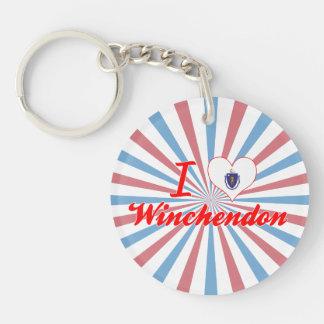 I Love Winchendon, Massachusetts Acrylic Keychains
