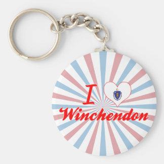 I Love Winchendon, Massachusetts Keychain