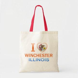 I Love Winchester, IL Budget Tote Bag