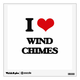 I love Wind Chimes Wall Graphic