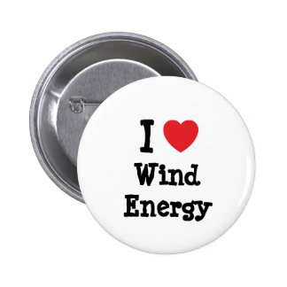 I love Wind Energy heart custom personalized Buttons