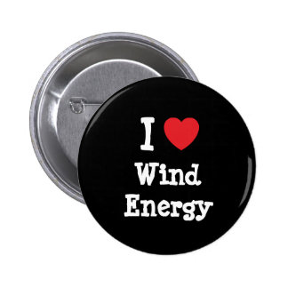 I love Wind Energy heart custom personalized 2 Inch Round Button