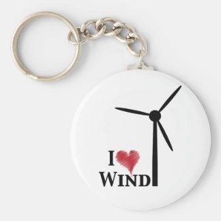 i love wind energy keychain