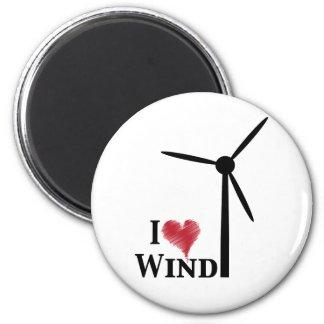 i love wind energy fridge magnet