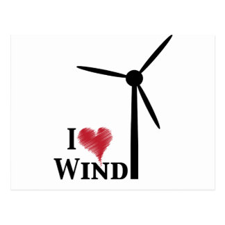 i love wind energy postcard