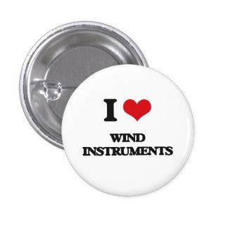 I love Wind Instruments 1 Inch Round Button