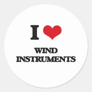 I love Wind Instruments Classic Round Sticker