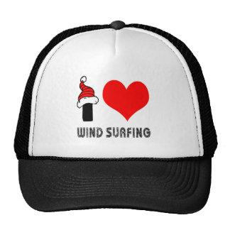I Love Wind Surfing Design Hat