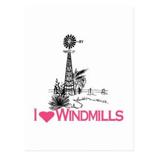 I Love Windmills Postcard