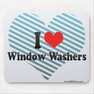 I Love Window Washers Mouse Pads