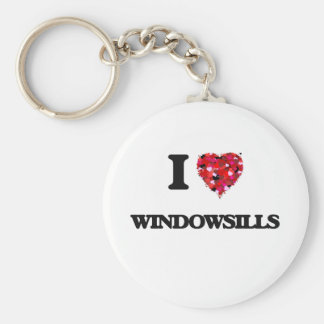 I love Windowsills Basic Round Button Keychain