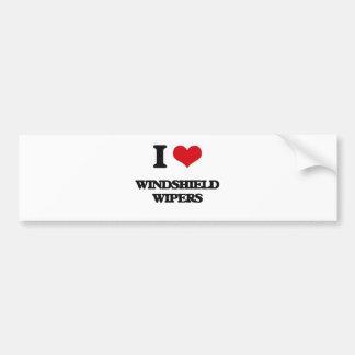 I love Windshield Wipers Car Bumper Sticker