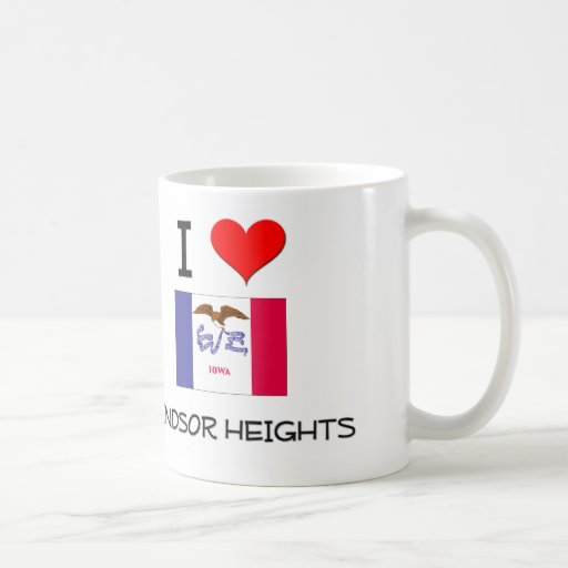 I Love WINDSOR HEIGHTS Iowa Classic White Coffee Mug