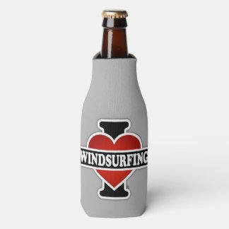 I Love Windsurfing Bottle Cooler