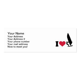 I love Windsurfing Business Card Template
