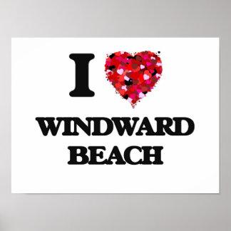 I love Windward Beach New Jersey Poster