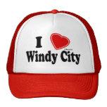 I Love Windy City Mesh Hats