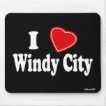 I Love Windy City Mousepad
