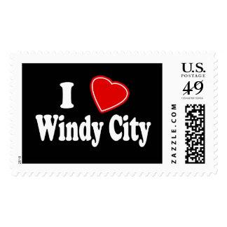 I Love Windy City Postage