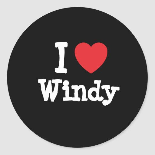 I love Windy heart T-Shirt Stickers