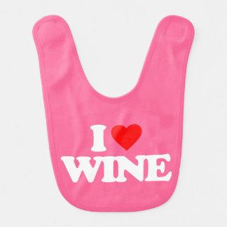 I LOVE WINE BABY BIB