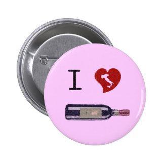 I Love Wine Pin