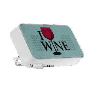 I Love Wine Doodle Speaker