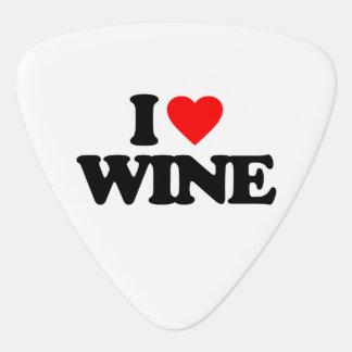I LOVE WINE GUITAR PICK