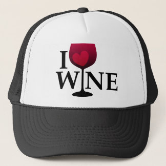 I Love Wine Hat