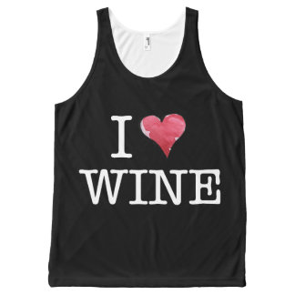 I love wine heart wine enthusiast All-Over print tank top