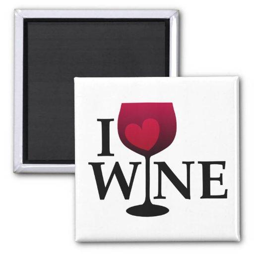 I Love Wine Magnet