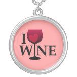 I Love Wine Necklace