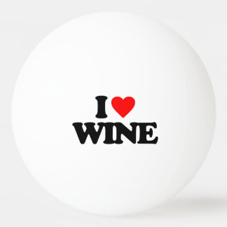 I LOVE WINE PING PONG BALL