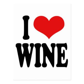 I Love Wine Postcard