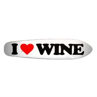 I LOVE WINE SKATEBOARD DECK