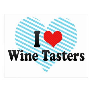 I Love Wine Tasters Postcard
