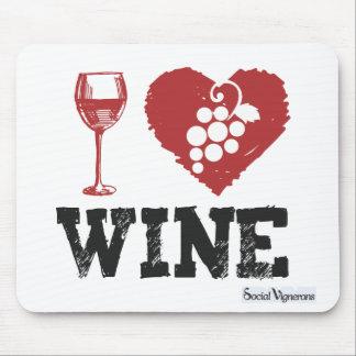 I Love Wine - Wine Lover Mousepad