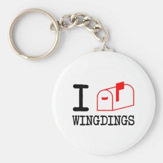 I Love Wingdings Keychain