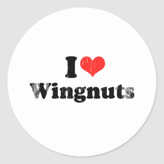 I LOVE WINGNUTS.png Stickers