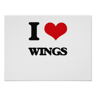 I love Wings Poster