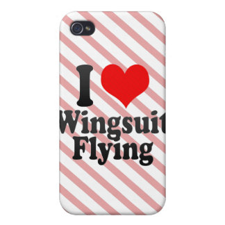 I love Wingsuit Flying iPhone 4 Cover
