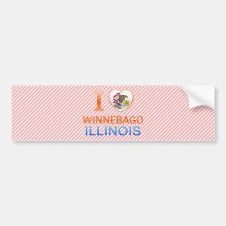 I Love Winnebago, IL Bumper Stickers