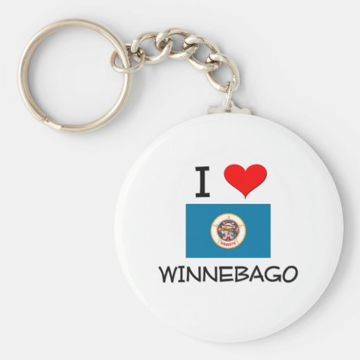 I Love Winnebago Minnesota Key Chain